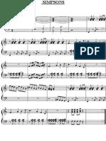 paritura da musica dos  SIMPSONS
