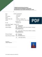 Formulir Pendaftaran KOAS