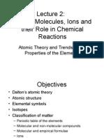 Lecture 2 Atoms & Molecules