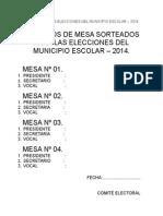 Modelo Para Las Elecciones Del Municipio Escolar