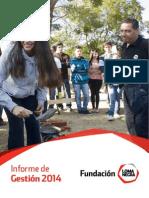 Fundación Loma Negra - Informe de Gestión 2014