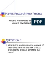 market research-new product