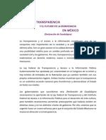 Declaración Guadalajara Transparencia
