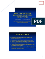 Best Practice for Design of Maritime Structures