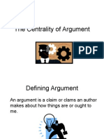 the centrality of argument