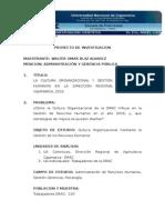 LA CULTURA ORGANIZACIONAL Y GESTIÓN DE RECURSOS HUMANOS EN LA DIRECCIÓN REGIONAL DE AGRARIA CAJAMARCA, 2016