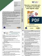Díptico Recursos y Materiales Para La Enseñanza Del Español Como Segunda Lengua (1)