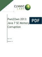 Pwn2own 2013 - Java 7 Se Memory Corruption