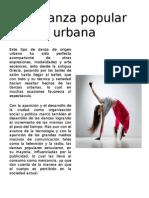 La Danza Popular Urbana