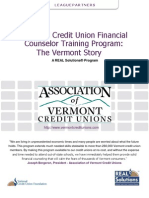 Certified Credit Union Financial Counselor Training Program