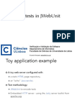 Unit Test with Jwebunit