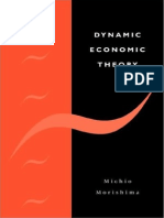Michio Morishima-Dynamic Economic Theory (2009)