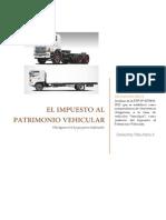 Impuesto Al Patrimonio Vehicular - Derecho Tributario II