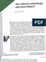 Apuntes Sobre Eclesiología Del Papa Juan Pablo II