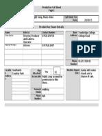 production call sheet  1