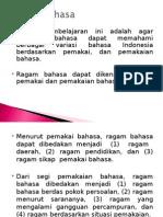 2.Ragam Bahasa
