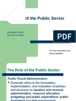 The Role of Public Sector