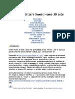Ghid de Utilizare Sweet Home 3D Este