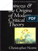 Christopher Norris Spinoza and the Origins of Modern Critical Theory