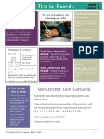 eureka math grade 1 module 2 parent tip sheet
