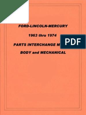 1968 Mercury Montclair Monterey Parklane Owners Manual User Guide Operator Book