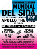 NYC World AIDS Day 2015 CoalitionEvent SaveTheDate Flyer Spanish