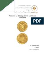 Resumen La Catalogación de Los Bienes Culturales