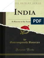 India as Known by the Ancient World