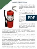 Extintores de Incendios de Polvo Químico Seco (PQS)