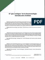 Restrepo - El Giro Teologico en La Fenomenologia
