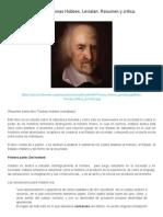 Thomas Hobbes, Leviatán_ Resumen y Crítica