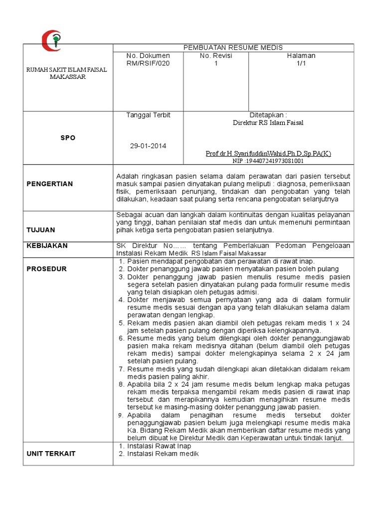 020 spo pembuatan resume medis