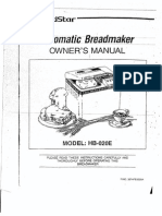 Goldstar Automatic Breadmaker Manual