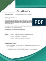 Carta Maestra_ Atención y Cuidado Infantil MI