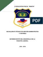 Informe de Pasantias CNEL-MANTA-ECUADOR- Melanie Ruiz