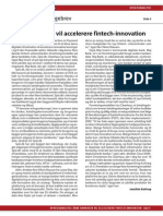 Åbne bankdata vil accelerere fintech-innovation