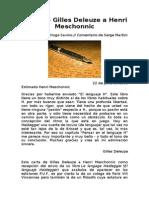 Carta de Deleuze a Meschonnic