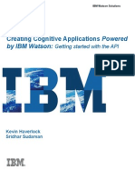 Creating Cognitive Apps Powered By IBMWatson-GettingStartedWithTheAPI