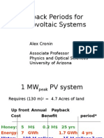 Payback Periods for Solar Power Plants