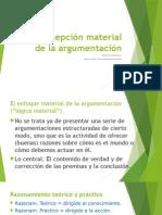LOG.ARGU.JUR - Concepción material de la argumentación