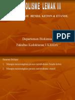 Metabolisme Benda Keton & Etanol