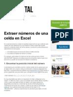Extraer Números de Una Celda en Excel - Excel Total