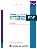 Ibe Report a Review of the Ethical Aspects of Corporate Governance Regulation and Guidance in the Eu