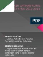 Proker Latihan Rutin Basket Ffua 2013-2014