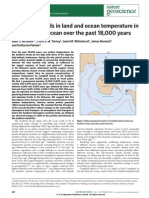 Divergent Trends in Land and Ocean Temperature in the Southern Ocean Over the Past 18,000 Years