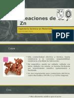 Aleaciones de Cu y Zn