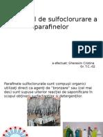 T.C.O Sulfoclorurarea Parafinelor