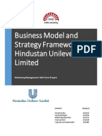 Business Model and Strategy Framework for HUL