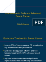Update Exemestane in Early Advanced Breast Cancer Medical Slide Reference 2015