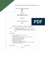 Year 10 Yearly Mathematics